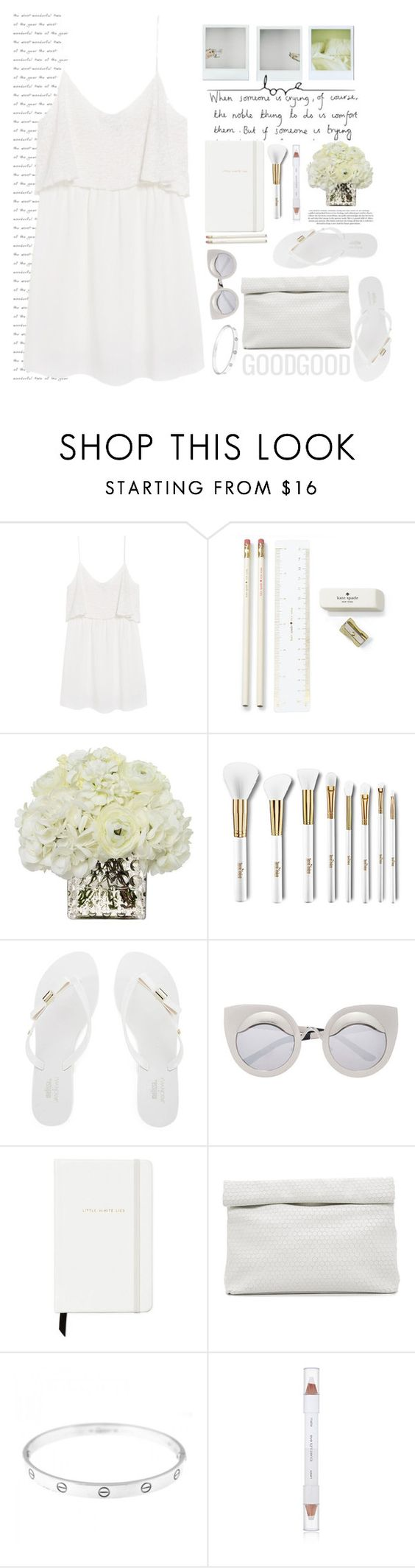 """""""YOUR GOOD STYLE WHITE"""" by licethfashion ❤ liked on Polyvore featuring Pixie, MANGO, Kate Spade, Diane James, Terre Mère, Melissa, Marie Turnor, Cartier, shu uemura and polyvoreeditorial"""