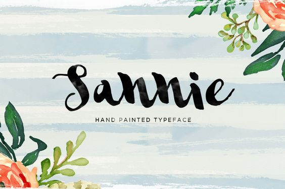 Sannie Typeface by Area Type Studio on Creative Market