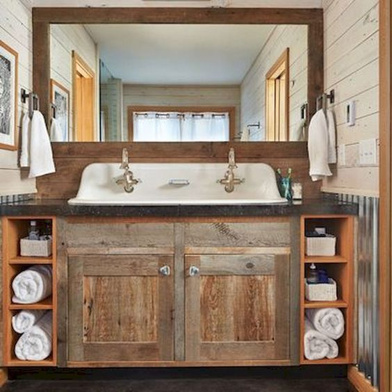 25 Wunderschone Bauernhaus Stil Verwitterte Holz Badezimmer