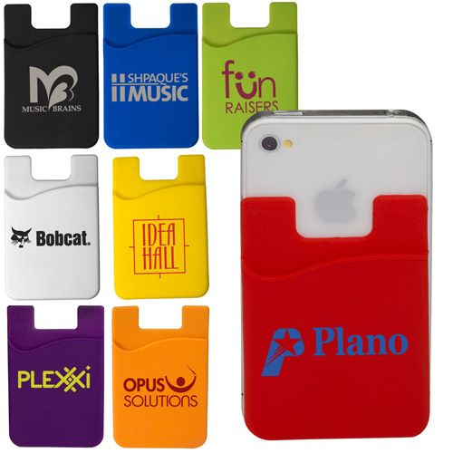 Promotional Silicone Cellphone Pocket Card Holder 1.06/each