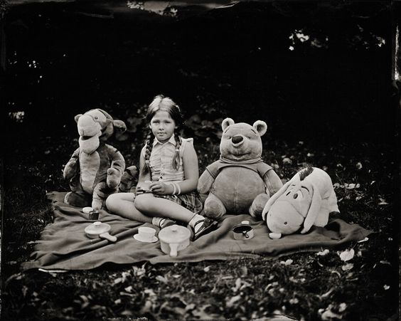 """Picnic, photography by Deborah Parkin. I have been working throughout the summer on a new project .. wet plate portraits of childhood called """"Stillness in Time"""".  This is very much a collaborative project with the children thinking of how they would like to be photographed .. they were wonderful and loved the magic of wet plate photography.. toyo 45 field camera. wet plate collodion. In People, Everyday, Leisure. Picnic, photography by Deborah Parkin. Image #321249"""