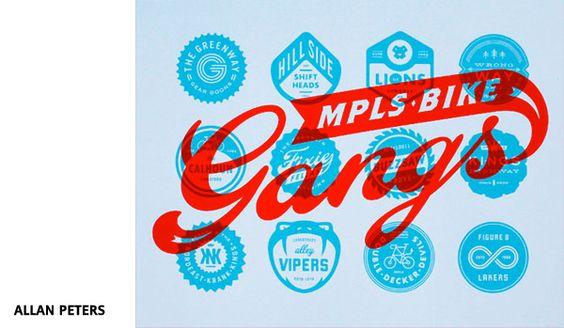 MPLS bike gangs par Allan Peters (screenprint)