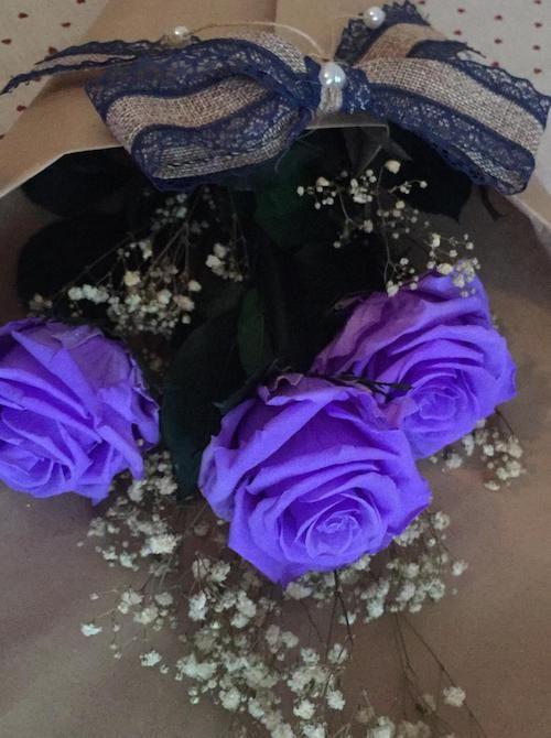 Ramo De Rosas Moradas Preservadas Ramo De Rosas Rosa Morada Rosas