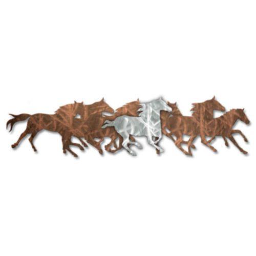 Running Wild Horses Western Metal Wall Art Sculpture Rustic Decor