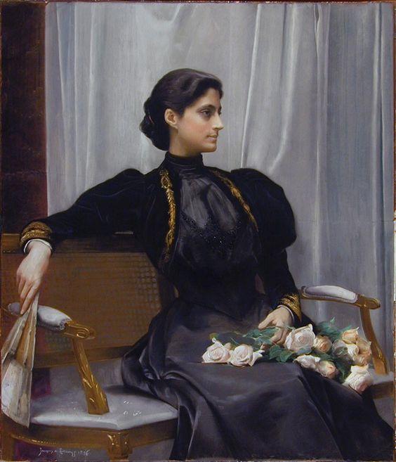 Mrs. William Barrett Ridgely (Kate Deering), 1896, Jacques de Lalaing (Anglo-Belgian, 1858 - 1917):