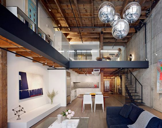 in the warehouse: san francisco warehouse turned contemporary loft, Innenarchitektur ideen