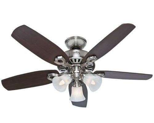 Ceiling Fan Light Kit 42 Inch Small Room Quiet Performance Brushed Nickel New Brushed Nickel Ceiling Fan Ceiling Fan Ceiling Fan With Light