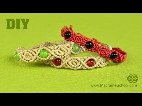 diy roses with beads macrame bracelet tutorial youtube. Black Bedroom Furniture Sets. Home Design Ideas