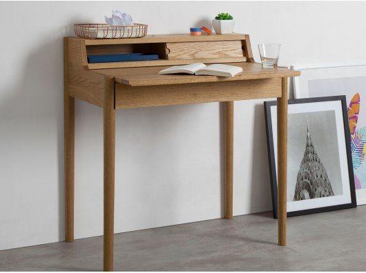 Leonie Compact Desk Oak Home Office Desks Office Desk Desk