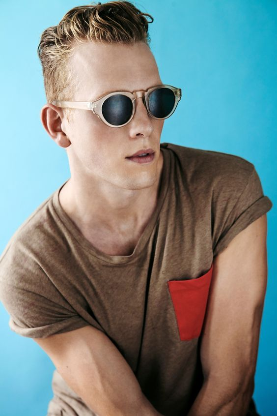 Great Sunglasses, Pocket T, and Hair. Men's Spring/Summer Fashion.: