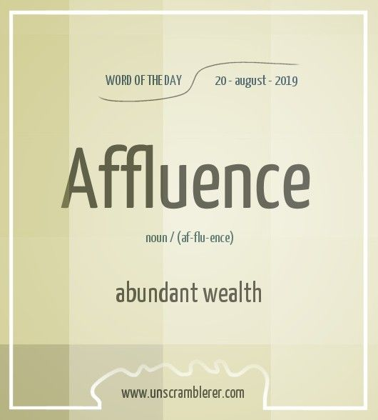 Affluence Words Learn English Words Vocabulary Words