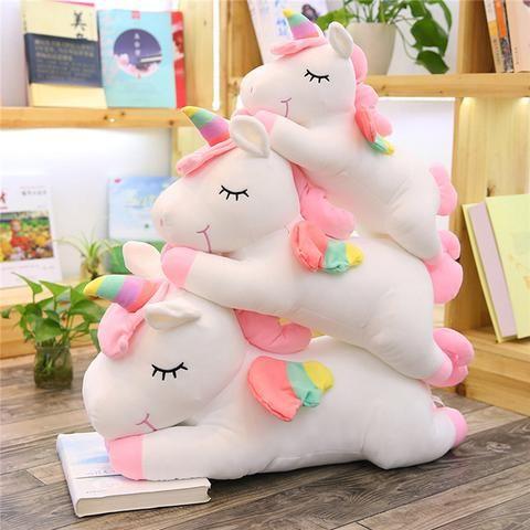 Stuffed Animal Rainbow Unicorn Colorful Plush Toys Fluffy Kids Present Idea Doll