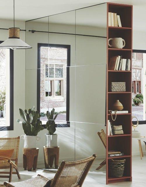 Diy Realiser Une Cloison Miroir Avec Rangements Cloison Mur Miroir Chambre Parentale Tendance