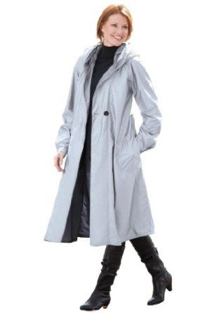 woman within plus size fashionable water-resistant raincoat $79.99