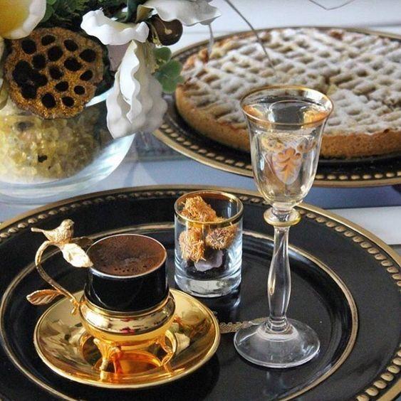 مسجات مساء القهوة أجمل توبيكات برائحة قهوتي Kahve Elmali Tartlar Turk Kahvesi