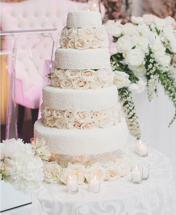 cake idea-- minus the icing texture, and peonies instead of roses