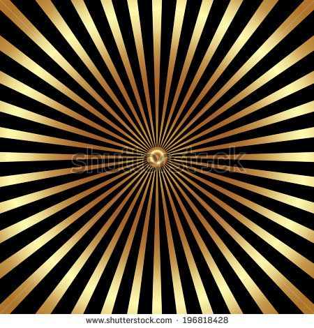 Vector abstract bright background with golden rays