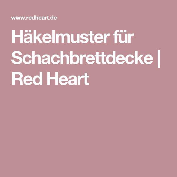 Häkelmuster für Schachbrettdecke | Red Heart