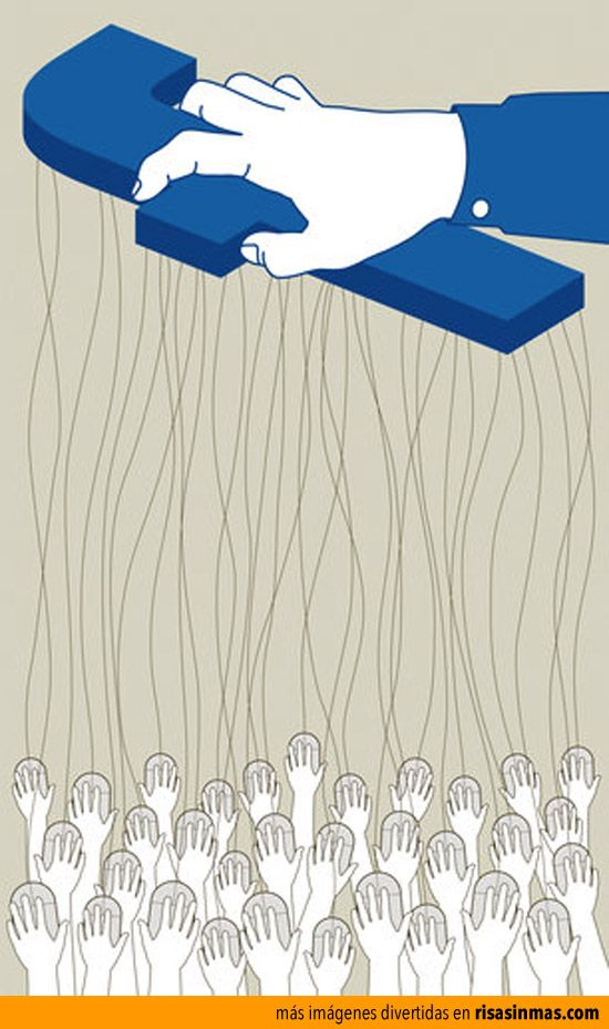 Diario: ¿Qué quiere decir esta foto acerca del uso de Facebook? ¿Estás de acuerdo con esta imagen? ¿Crees que eres una marioneta a las redes sociales?