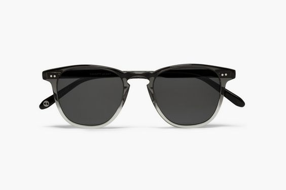 Garrett Leight California Optical D-Frame Two-Tone Sunglasses with Polarized Lenses via Hypebeast