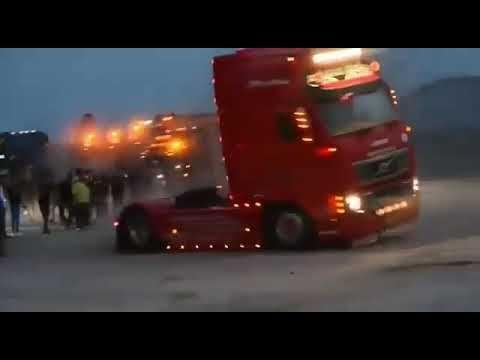 درفت شاحانات فولفو Volvo Truck Driftting Drift Cars Best Drift Volvo Trucks