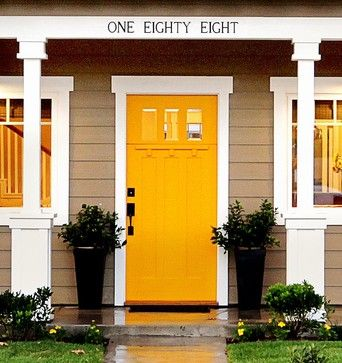 Miraculous Pop Of Color Orange Front Door Contemporary Eclectic House Largest Home Design Picture Inspirations Pitcheantrous