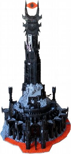 Barad-dur, Fortress of Sauron....made entirely of legos (50,000+ piecea!) and stands at 1.75m tall