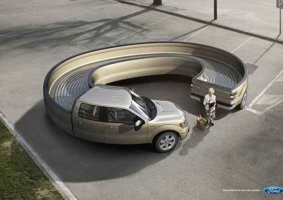 Ford visualisiert die Vorteile einer rückseitigen Kamera. (Quelle: newsdrilldigital.com)