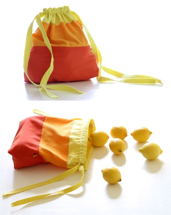 DIY: fabric sacks http://berryvogue.com/handbags