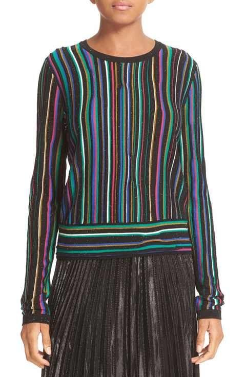 Diane von Furstenberg Arisha Nep Stripe Sweater