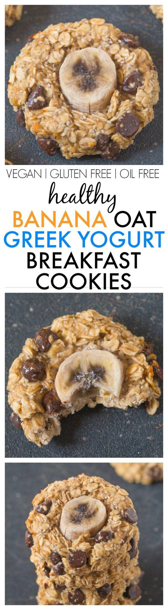 Healthy Flourless Banana Oat Greek Yogurt breakfast ...