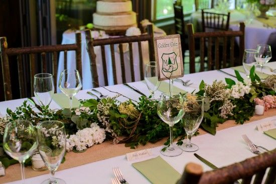 Long table centerpieces maryland and rustic spring for Long table centerpieces