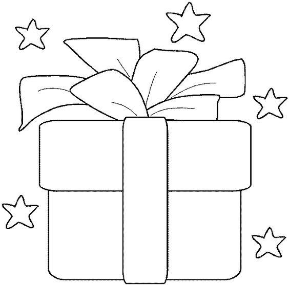 Colorear dibujo regalo con lazo para navidad recursos for Dibujo de lazo de navidad