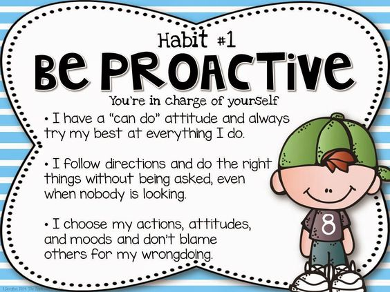 The Leader in Me Posters ~ Habit #1 Be Proactive FREE set download