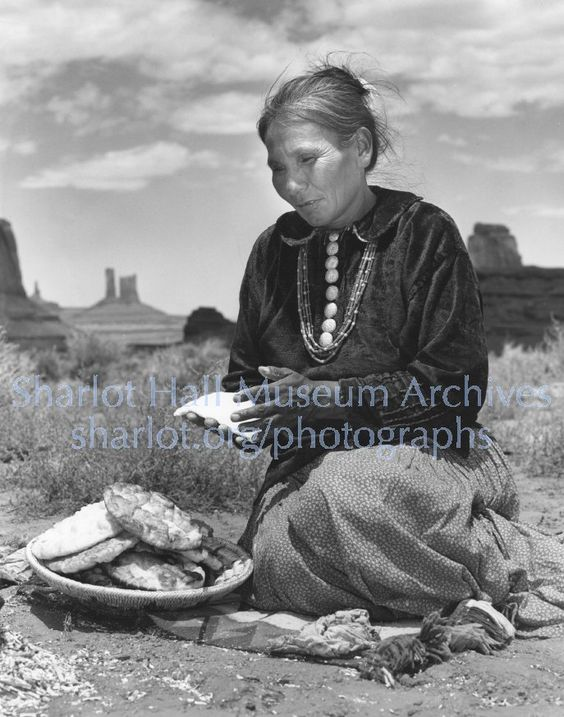 Navajo woman making fry bread, S.L., C.1940