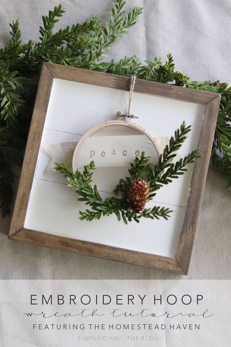 Christmas Embroidery Hoop Wreath.Diy Embroidery Hoop Wreath Featuring The Homestead Haven