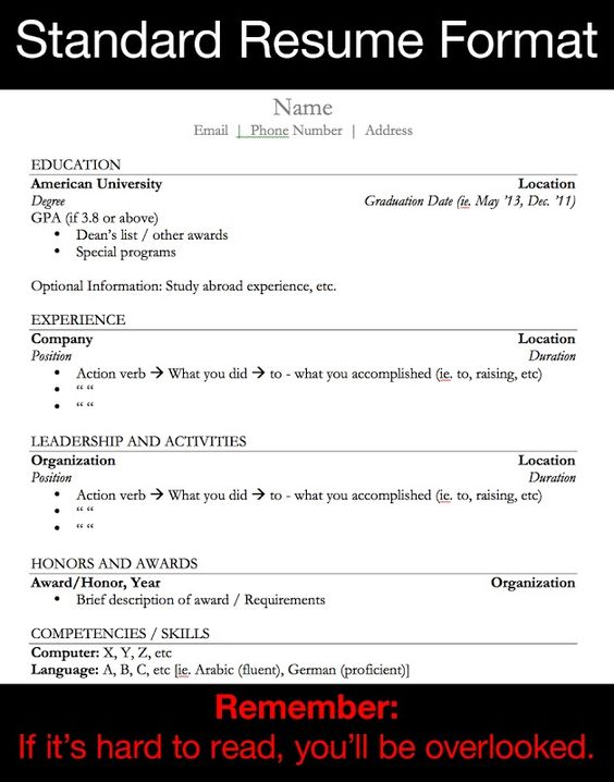 resume format resume and resume writing services on pinterest
