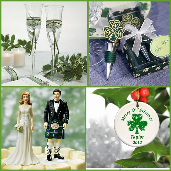 Irish Wedding Accessories and Favors from HotRef.com