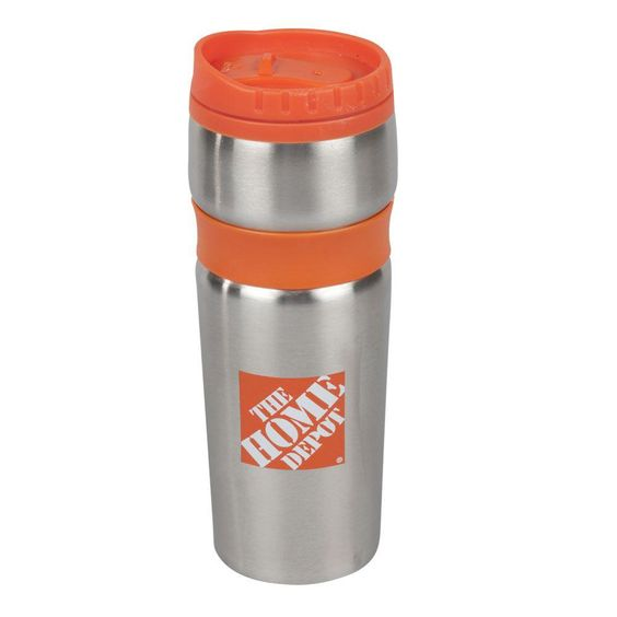 Whether you're headed to a construction site or an office, sip your coffee on the way to work with a stainless steel Home Depot branded travel mug.
