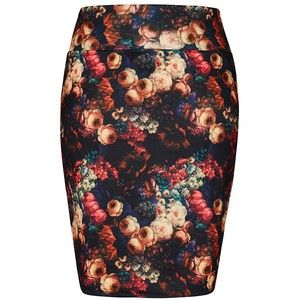 City Chic Printed Pencil Skirt