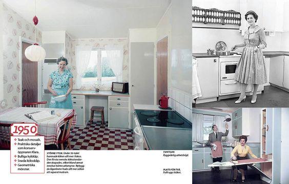 Så bodde vi förr: 1900-talets kökstrender.