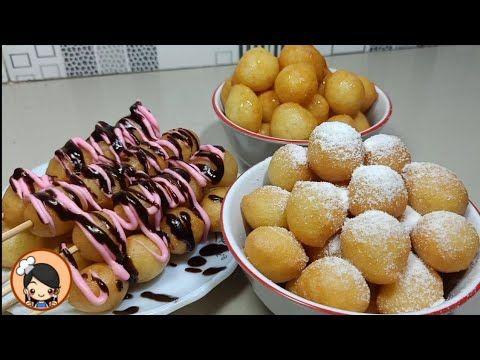 Resep Donat Mini Aduk Tinggal Aduk Aduk Lalu Goreng Praktis Dan Ekonomis Youtube Makanan Ringan Gurih Makanan Makanan Penutup
