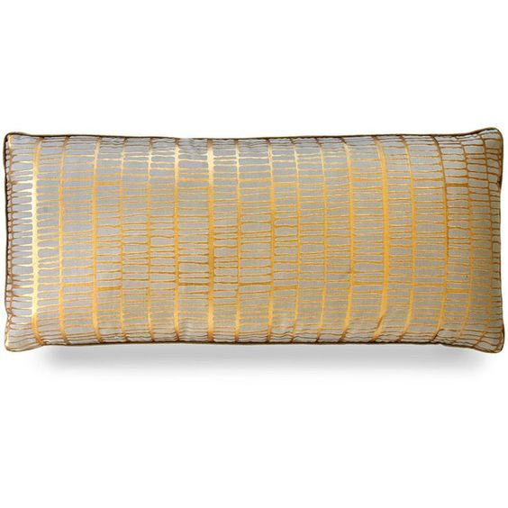 """Dransfield & Ross Mineral Stripe Pillow - 12"""""""" x 26"""""""" ($275) ❤ liked on Polyvore featuring home, home decor, throw pillows, seashell home decor, seashell throw pillows, striped throw pillows, transitional home decor and striped accent pillows"""