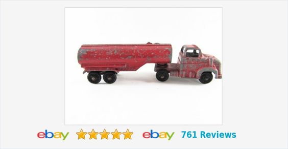 #Vintage #Ford #Tanker #Truck Tootsie #Toy Red Metal #tootsietoy #gotvintage