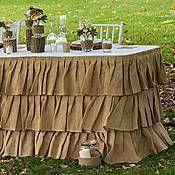 Tiered Ruffle Burlap Table Skirt