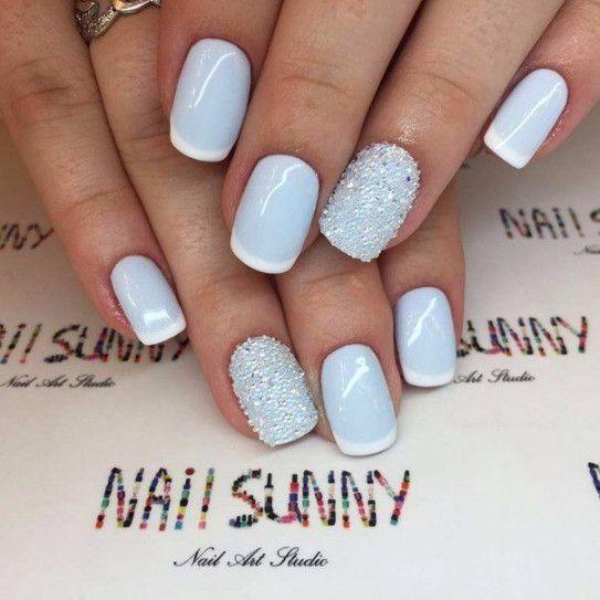 Short Nail Designs Winter Luxury Baby Blue Winter Nails Nails