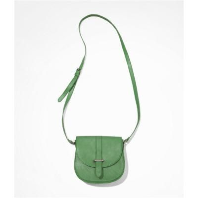 $34, Green Leather Crossbody Bag: Express Cross Body Saddle Bag. Sold by Express. Click for more info: http://lookastic.com/women/shop_items/82150/redirect