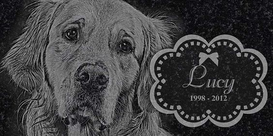 Personalized Pet Memorial, Headstone, Grave Marker, Engraved Granite 12 x 6 by FiveNDimeShop on Etsy https://www.etsy.com/listing/157778977/personalized-pet-memorial-headstone