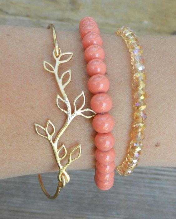 Gold leaf bangle.