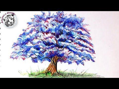 Como Dibujar Un Arbol De Fantasia Con Lapices De Colores Paso A Paso Youtube Lapices De Colores Dibujo De Arbol Como Dibujar Cosas